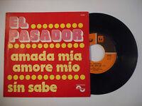EL PASADOR : AMADA MIA AMORE MIO / SIN SABE ♦ 45t. PORT GRATUIT ♦
