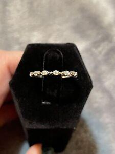 QVC Epiphany Diamonique Sterling Silver Bezel Set Ring Size 6