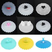Love Silicone Cup Cover Anti-Dust Leakproof Sealed Airtight Tea Coffee Cup Lids