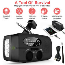 Emergency Solar Hand Crank Weather Radio AM/FM Power Bank Charger for Camp SOS