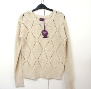 Women's beige jumper knitted long sleeve size M new with tag warm