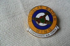 A great Douglas Bader Wing Confederate Air Force pin lapel badge,free u.k.p&p