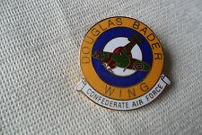 A great Douglas Bader Wing Confederate Air Force pin lapel badge,free u.k.p&p