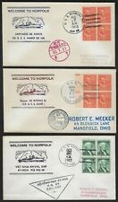 US JAPAN VIETNAM KOREA 1950s 60s SIX US NAVY SHIP COVERS POSTED ON BOARD USS