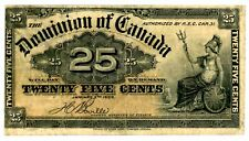 Canada . P-9b . 25 Cents . 1900 . *F-Vf*