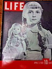 Life Magazine Dolls Like Girls & Hitler Follows Nazis Czecho-Slo   Apr 3 1939 72