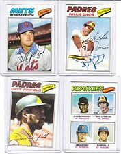 1977 Topps signed Mike Champion autograph Padres w/COA