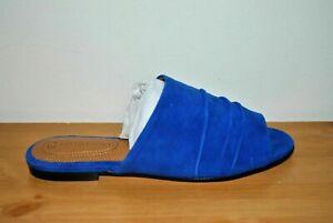CC Corso Como Women's Beachaven Royal Blue Flat Leather Sandal - Size 6
