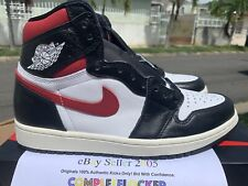 2019 Nike Air Jordan 1 Retro High OG Black Gym Red Size 9