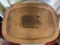 """VINTAGE WENDELL AUGUST FORGE HANDMADE LIMITED EDITION BRONZE TRAY 19"""" X 15"""" 1977"""