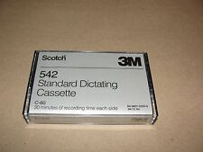 NOS Scotch 3M 542 Standard dictating cassette 60min total C-60