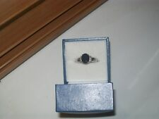 18 ct white gold sapphire and diamond ring