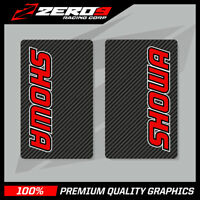 SHOWA UPPER FORK DECALS MOTOCROSS GRAPHICS MX GRAPHICS ENDURO CARBON RED
