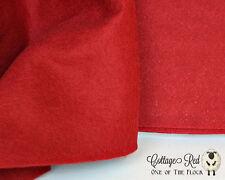 Fat Quarter, Cottage Red Wool Felt, 100% Virgin Wool Felt, Craft, Sew, Create