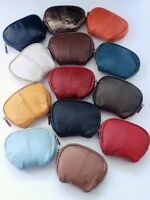 LADIES COIN PURSE Real Soft Leather Zip Top Coin Pocket Pouch Style Great Colour