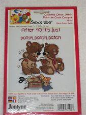 PATCH PATCH PATCH BEARS JANLYNN CROSS STITCH KIT 38-190 SKILL MODERATE 12 x 17cm