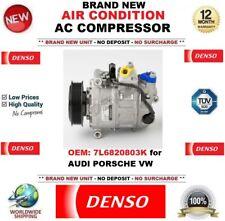 DENSO ARIA CONDIZIONATA COMPRESSORE AC OEM: 7L6820803K per AUDI PORSCHE VW NUOVO
