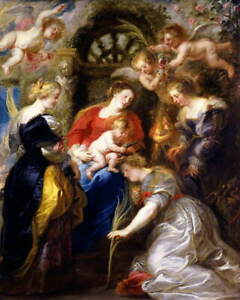 Peter Paul Rubens Crowning of Saint Catherine Giclee Paper Print Poster