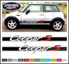 MINI COOPER 'S' BMW RACING SIDE STRIPES WITH RED 'S'  - FIT THE BEST!