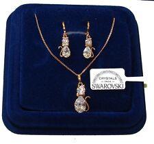 Collana e Orecchini donna pl oro giallo 18K zirconi cristalli swarovski veri SW2
