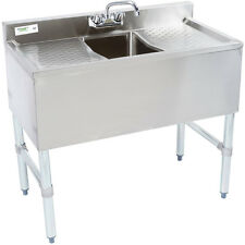 """36"""" Nsf Stainless Steel Underbar Sink with Faucet and 2 Drainboards"""