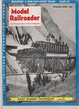 MODEL RAILROADER DEC 1954  / ROCK PRODUCTS BUNKER / SIGNAL CIRCUIT / OLTIMER
