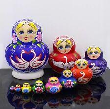 Russian Matryoshka Babushka 10 piece Nesting Dolls