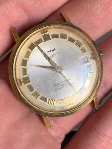 Vintage Swiss self-winding WALTHAM 17 Jewels Men's Watch Parts or Repair!! NR