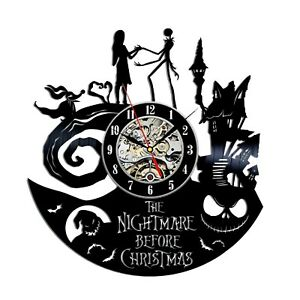 Nightmare Before Christmas Decor Modern Wall Clock Jack Skellington Vinyl Clock