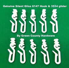 20 x Silent Gliss 6146 Hook & 3534 Glider FOR use with shower curtains FREEPOST