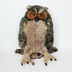 Melissa & Doug Soft & Cuddly Life-Like Plush Owl Stuffed Animal