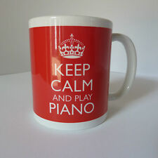 New Keep Calm and Play Piano Carry On Gift Mug Cup Pianist Student Music Teacher