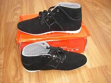 BLACK SUEDE  MENS HIGH TOPS  SIZE 9/43