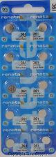 10 pc 361 Renata Watch Batteries SR721W 361 FREE SHIP 0% MERCURY