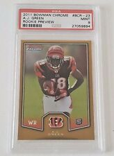 2011 BOWMAN CHROME A.J. GREEN RC ROOKIE BCR-23 PSA 9 MINT BENGALS