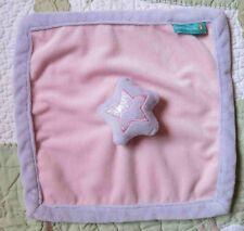Tiddliwinks Plush Pink & Purple Princess Star Baby Girl Security Blanket Euc