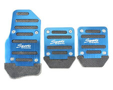 3 Pcs Aluminium Alloy Brake Cover Pad Small Car Non Slip Pedal Foot Treadle Blue