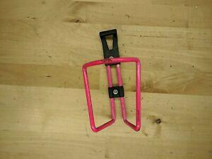 Vintage Vetta Neon Pink Alloy Water Bottle Cage Mountain Bike Road E1