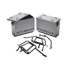 Aluminum Panniers with Pannier Racks Large Silver for Kawasaki KLR650 2008-2018
