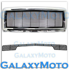 14-15 Chevy Silverado 1500 Black Billet Grille+Chrome Grille Shell+Bumper w/oTow