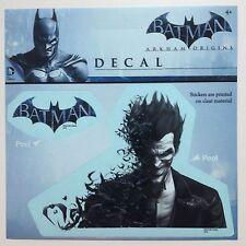 "Joker Arkham Origins Car Window Sticker Decal 5""  PLUS 2nd Batman Sticker Logo"
