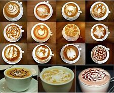Coffee Stencil Set Cappuccino Latte 16 Cocoa Chocolate Stencils Birthday Gifts