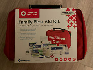 New American Red Cross Family First Aid Kit,114 Count Official License Product
