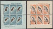 New Zealand Birds 2v (2nd series) in Sheetlets issue 1960 SG#MS804b MI#413-414