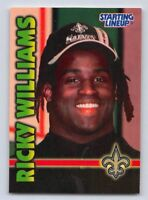 1999  RICKY WILLIAMS Starting Lineup Extended Football Card - NEW ORLEANS SAINTS