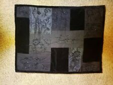 1qty Ralph Lauren Bohemian Quilt Standard Sham Black Beaded Pre-Owned