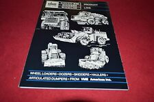 Volvo Michigan Euclid  Equipment Buyers Guide 1986 Dealers Brochure DCPA2