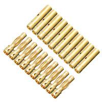 10 Paar 20 Stück 4mm Goldstecker Stecker Bananen Buchse 4 mm 4,0mm Lipo Motor RC