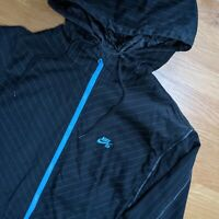 Nike SB Windbreaker Skateboarding - Mens Size Medium - Black Patterned Zip Up