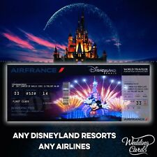 Disneyland Ticket Flight Boarding Pass Paris Florida California Disney World Air